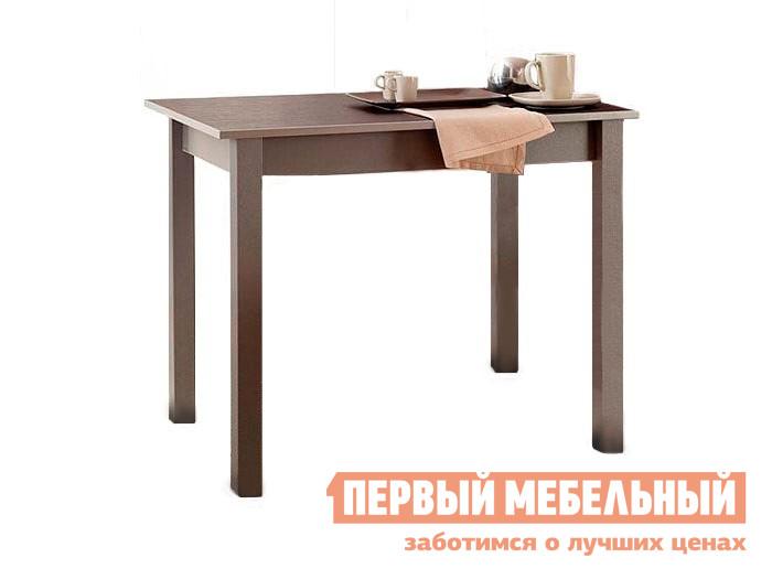 Кухонный стол Боровичи Стол обеденный Капучино (массив) / Шимо темный (ЛДСП)