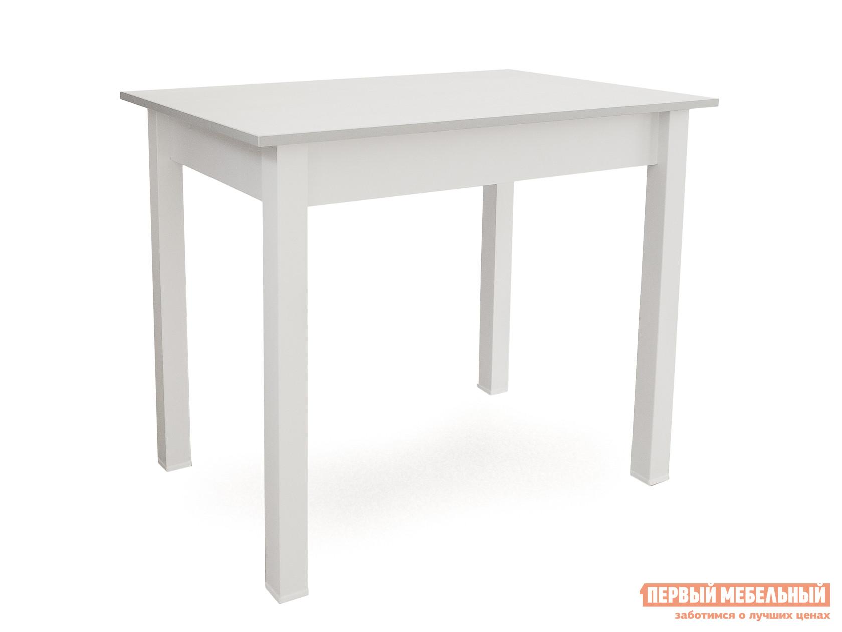 Кухонный стол Боровичи Стол обеденный Выбеленная береза (массив) / Шимо светлый (ЛДСП)