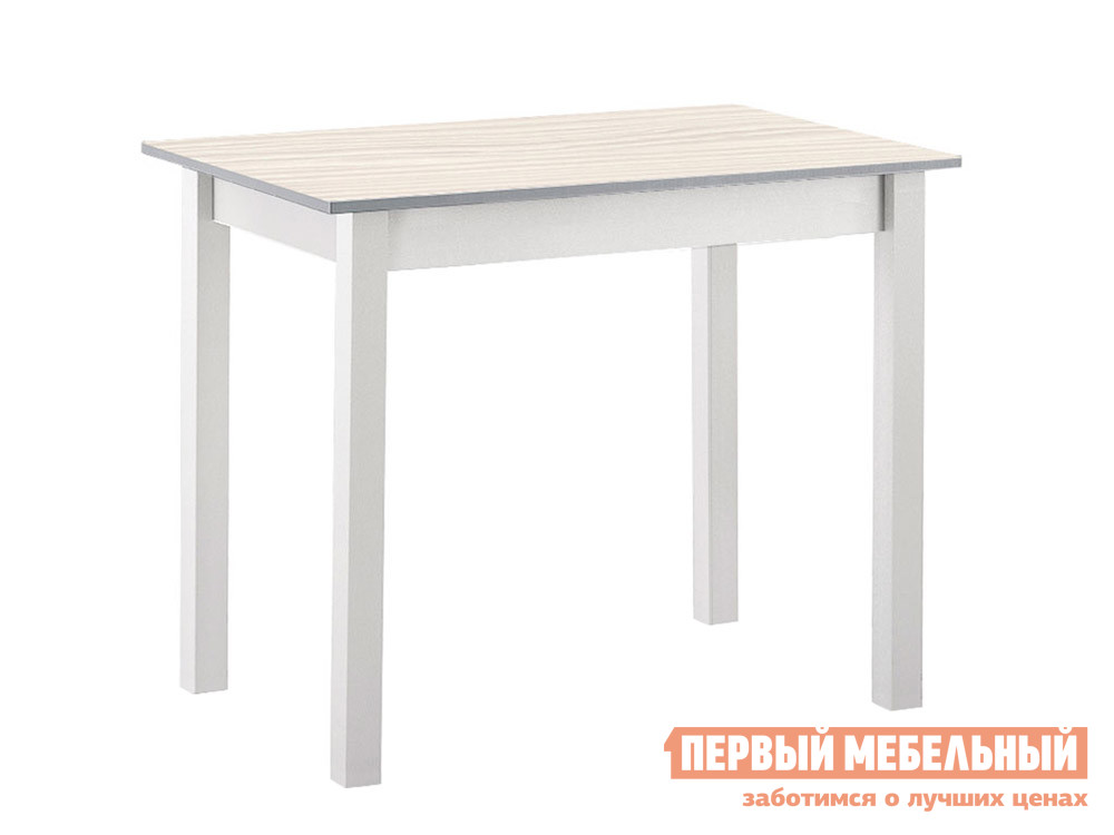 Кухонный стол Стол обеденный прямая ножка Авола ЛДСП / Серый МДФ фото