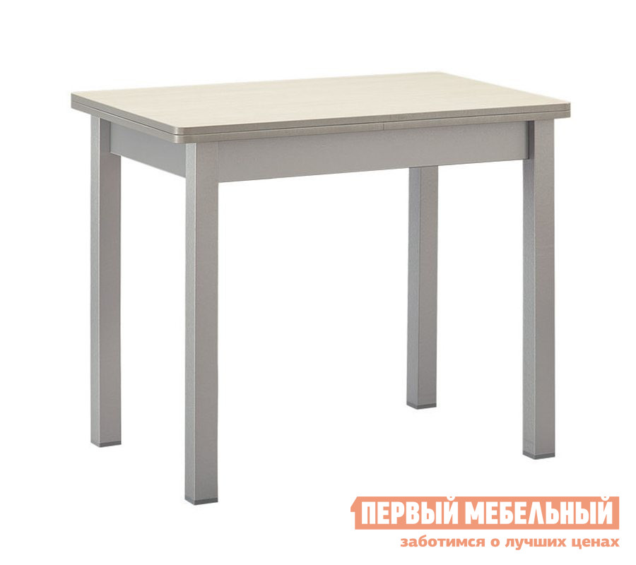 Кухонный стол Боровичи Стол раскладной со скруглением Авола / МеталликКухонные столы<br>Габаритные размеры ВхШхГ 750x900 / 1200x600 мм. Раскладной обеденный стол прекрасно подойдет для небольшой кухни.  В сложенном виде иметь размер столешницы (ШхГ): 900 х 600 мм. В разложенном (ШхГ): 1200 х 900 мм. Модель имеет несколько вариантов расцветки, поэтому можно подобрать стол, подходящий именно к вашему интерьеру.<br><br>Цвет: Авола / Металлик<br>Цвет: Светлое дерево<br>Высота мм: 750<br>Ширина мм: 900 / 1200<br>Глубина мм: 600<br>Форма поставки: В разобранном виде<br>Срок гарантии: 18 месяцев<br>Тип: Раскладные, Трансформер<br>Материал: Деревянные<br>Форма: Прямоугольные<br>Размер: Маленькие
