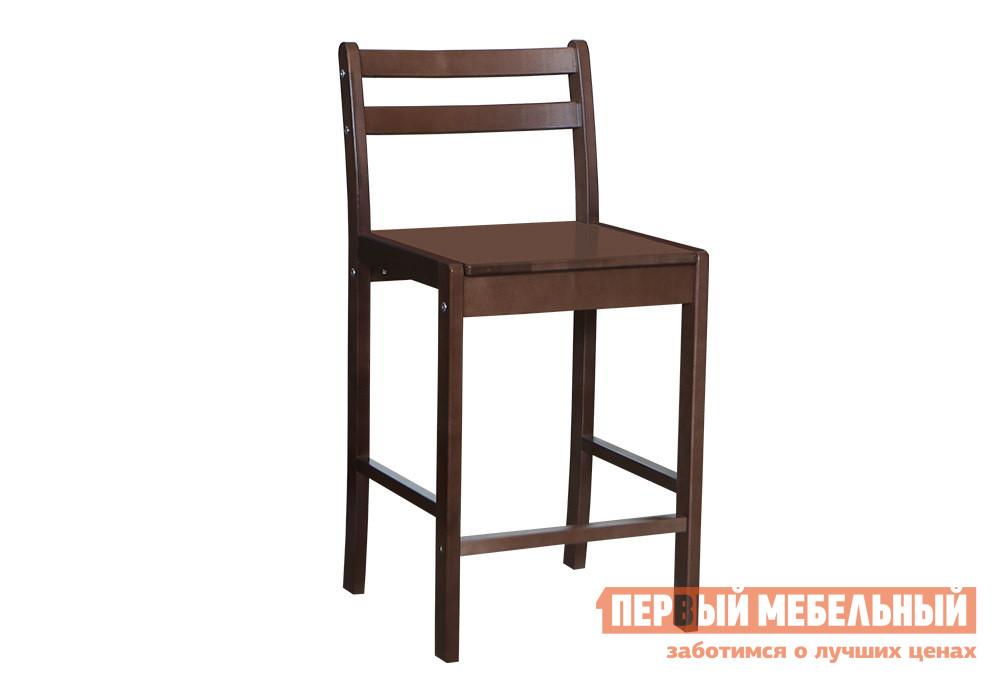 Барный стул Боровичи Стул Барный Береза шоколадБарные стулья<br>Габаритные размеры ВхШхГ 940x550x440 мм. Удобный барный стул из массива березы впишется в абсолютно любой интерьер, благодаря своему сдержанному дизайну. Специальные подставки для ног позволят расположиться с удобством, а эргономичная спинка, состоящая из двух поперечин поможет держать осанку. Высота спинки до сиденья составляет 320 мм, высота сиденья от пола — 620 мм. Стул изготовлен из массива березы.<br><br>Цвет: Береза шоколад<br>Цвет: Коричневое дерево<br>Высота мм: 940<br>Ширина мм: 550<br>Глубина мм: 440<br>Форма поставки: В разобранном виде<br>Срок гарантии: 18 месяцев<br>Тип: Для кухни, Нерегулируемые, Высота сиденья 600-700мм<br>Материал: Деревянные, Из натурального дерева<br>Порода дерева: из березы<br>Особенности: С жестким сиденьем, Со спинкой, С четырьмя ножками