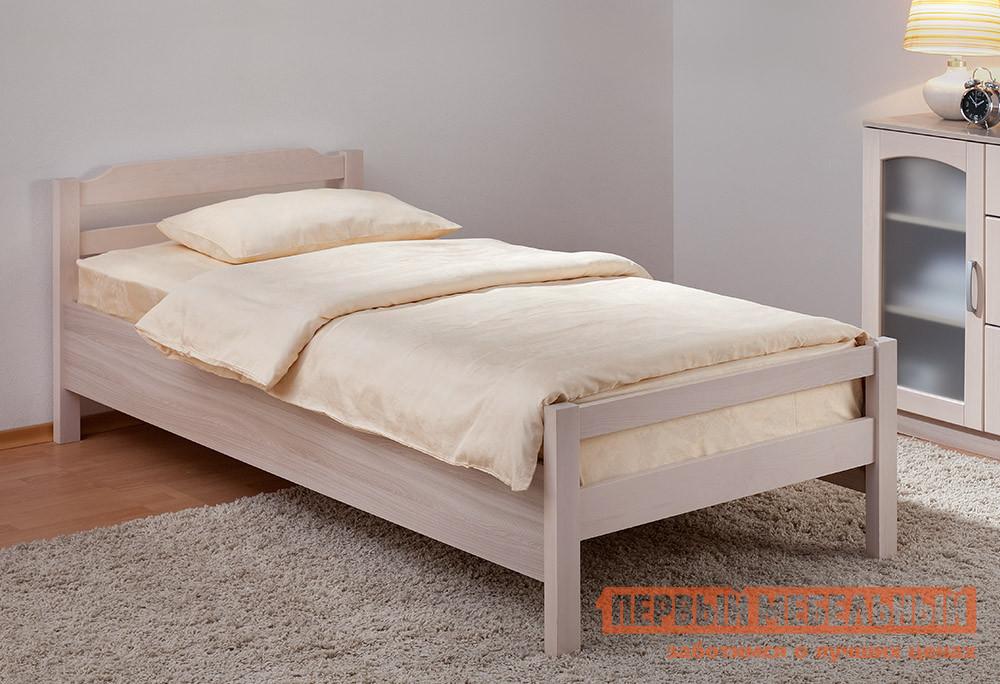 Односпальная кровать Боровичи Новь Шимо светлый / Выбеленная береза, Спальное место 900 Х 2000 мм