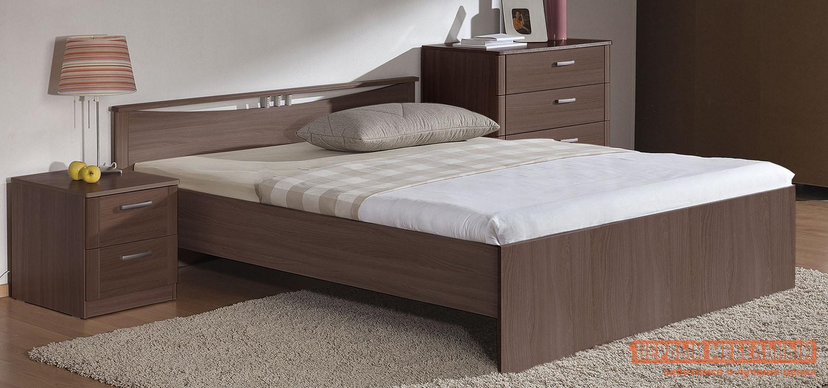 Кровать Боровичи Мелисса Шимо темный, Спальное место 900 Х 2000 мм
