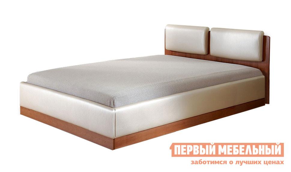Кровать Боровичи Тахта Мелисса Люкс Вишня, Boom Milk (иск.кожа) / Плейн серый, 900 Х 2000 мм Боровичи Габаритные размеры ВхШхГ 820x1050 / 1550x2100 мм. Удобная кровать-тахта — отличный вариант для спальни как в квартире, так и в загородном доме.  Мягкие подушки на изголовье придают модели элегантный вид.  Такая тахта позволит создать в комнате уютную обстановку для сна и отдыха. Матрас — несъемный, входит в комплект кровати.  Он имееет среднюю жесткость.  Обивка матраса выполняется из ткани.  Наполнение матраса — пружинный блок боннель, войлок, пенополиуретан, ткань.  </br>Тахта оборудована подъемным механизмом и вместительным ящиком для белья под матрасом.  Максимальная нагрузка на спальное место составляет 90 кг. <br>На выбор представлено три варианта размера спального места:900 х 2000 мм;<br>1200 х 2000 мм;<br>1400 х 2000 мм. <br><br>Каркас изготавливается из ЛДСП, подушки на изголовье и боковые стенки обиты искусственной кожей, обивка матраса — ткань. <br>
