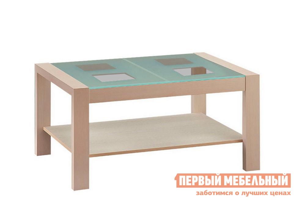 Журнальный столик Боровичи Стол журнальный Массив со стеклом