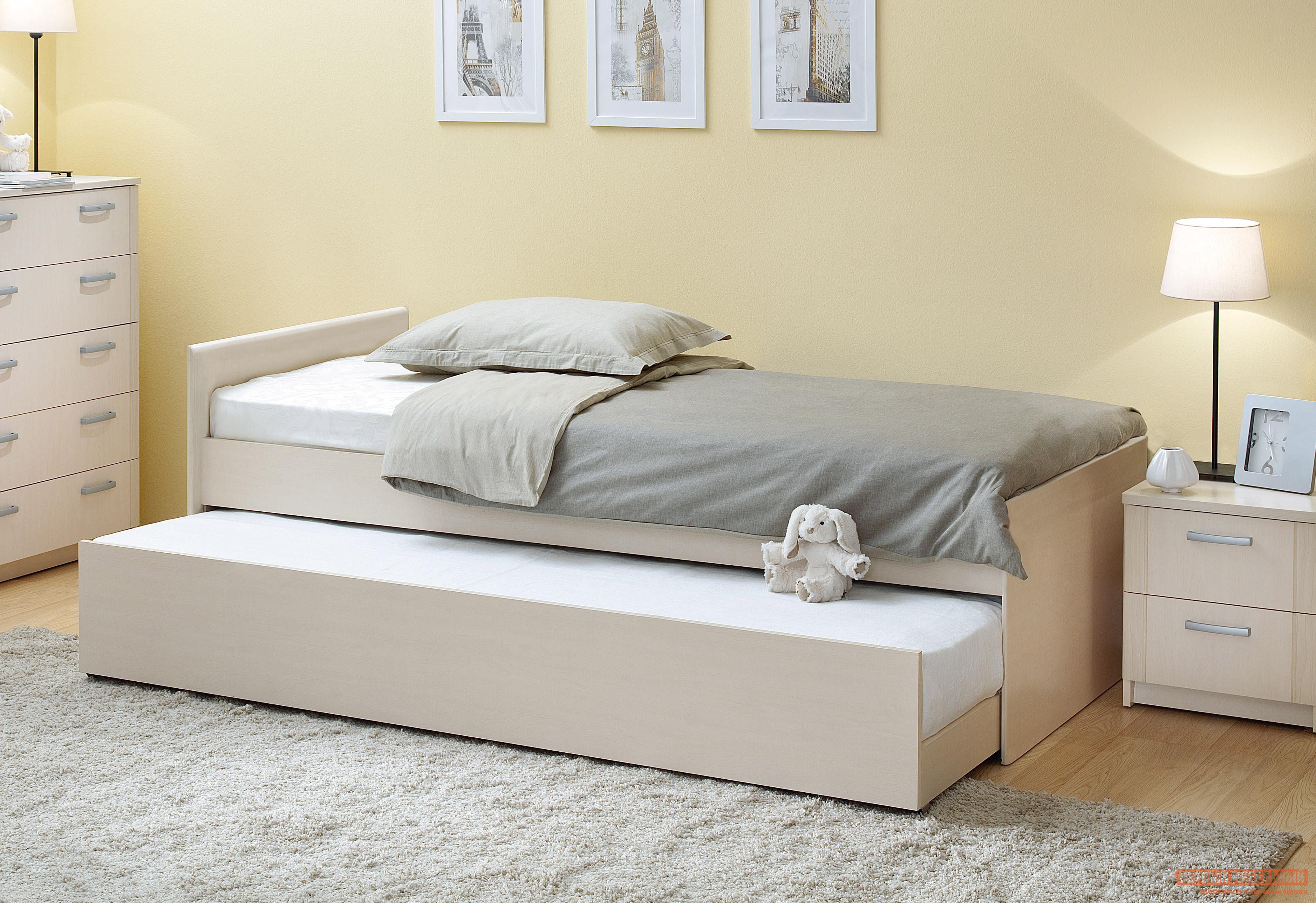 Детская кровать Боровичи Дуэт С двумя матрасами, Шимо светлый