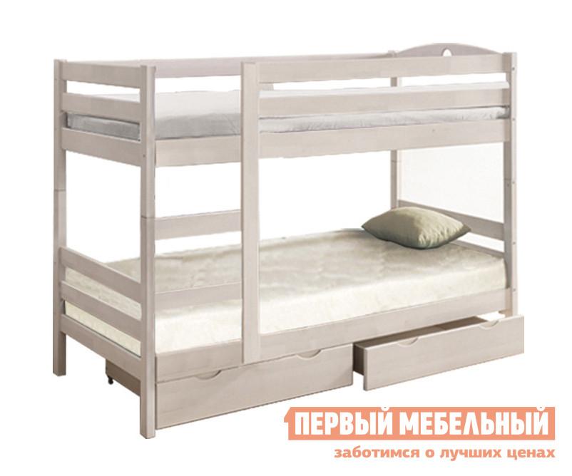 Двухъярусная кровать с ящиками Боровичи Кровать Двухъярусная МАССИВ (трансформер) с ящиками