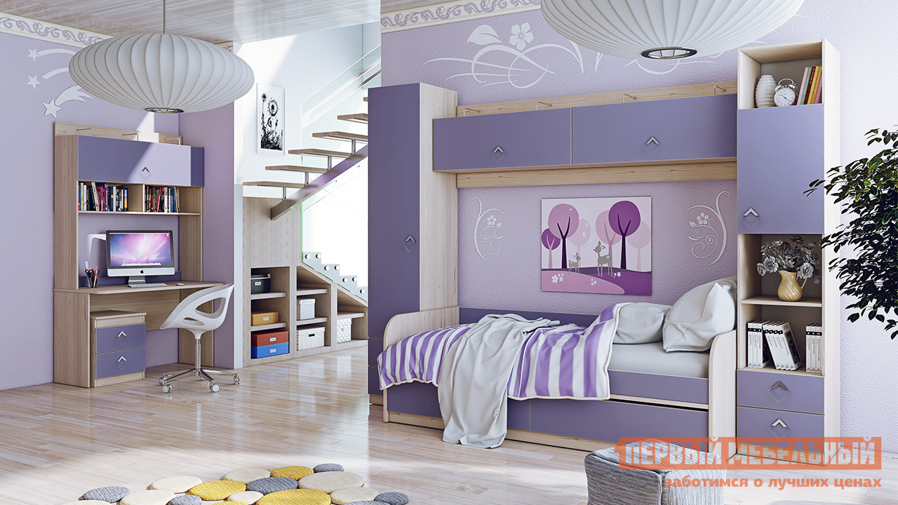 Комплект детской мебели ТриЯ Аватар Лаванда К1 спальный гарнитур трия саванна к1