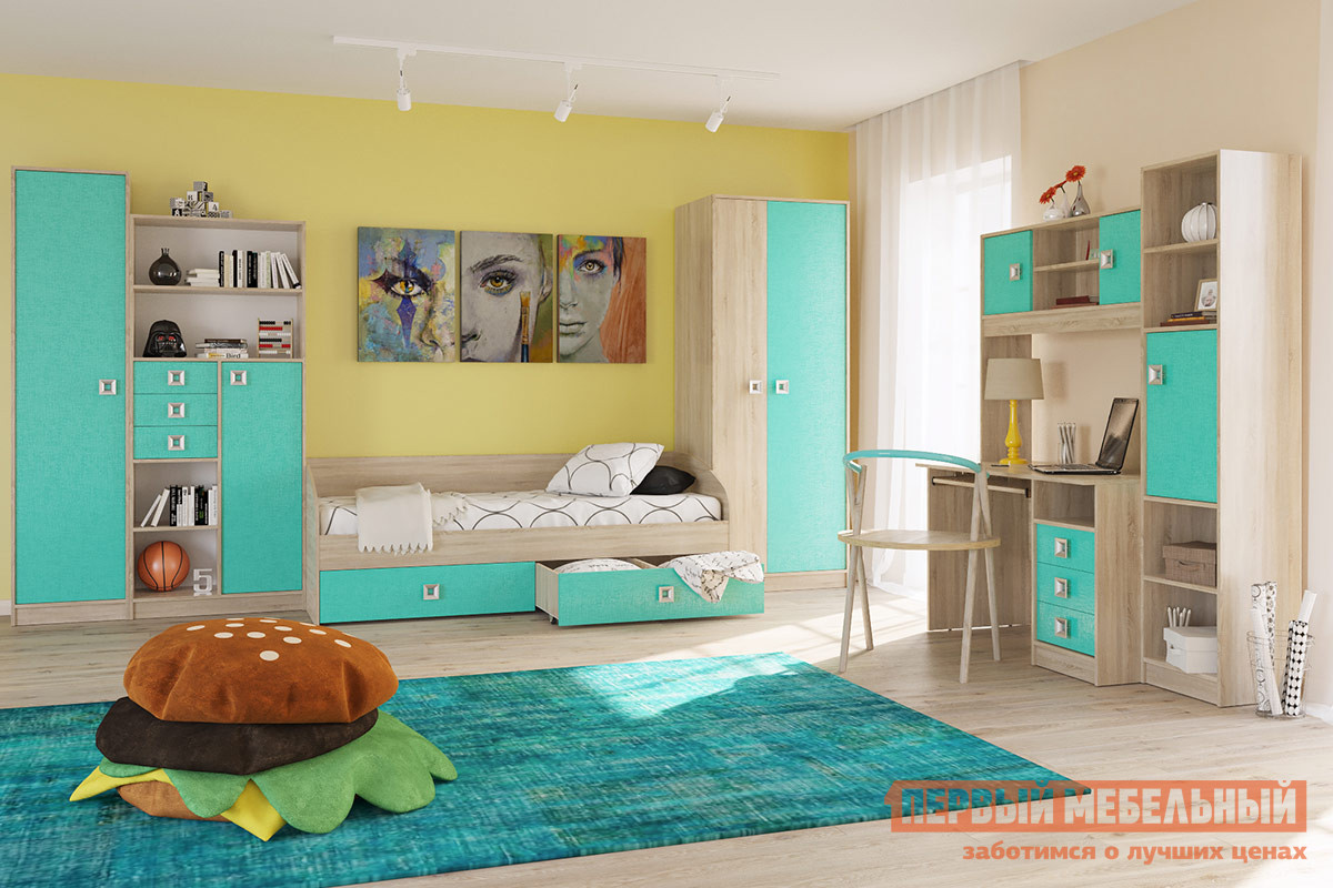 Комплект детской мебели Бит и Байт Сити Аква К1 комплект детской мебели трия аватар лайм к1