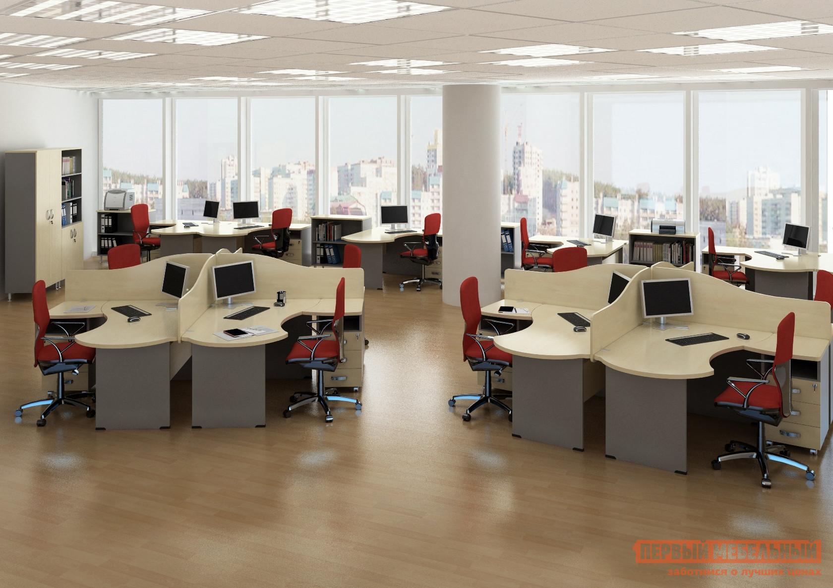 Комплект офисной мебели Дэфо Берлин Офис К1 стол офисный дэфо берлин b101 правый береза серый