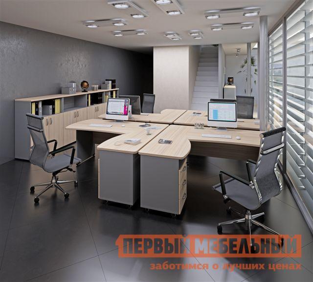 Комплект офисной мебели Дэфо Берлин Офис К3 стол офисный дэфо берлин b101 правый береза серый