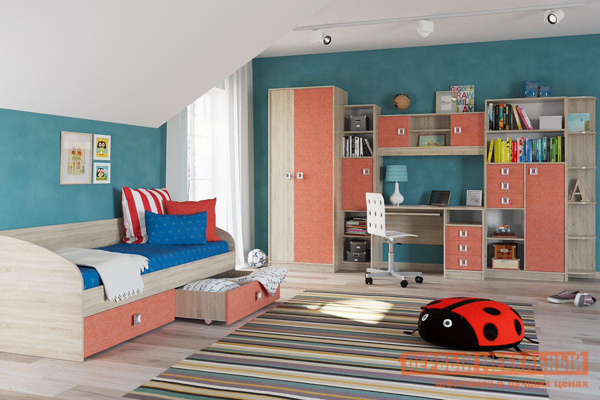 Комплект детской мебели Бит и Байт Сити Коралл К1 комплект детской мебели трия аватар лайм к1