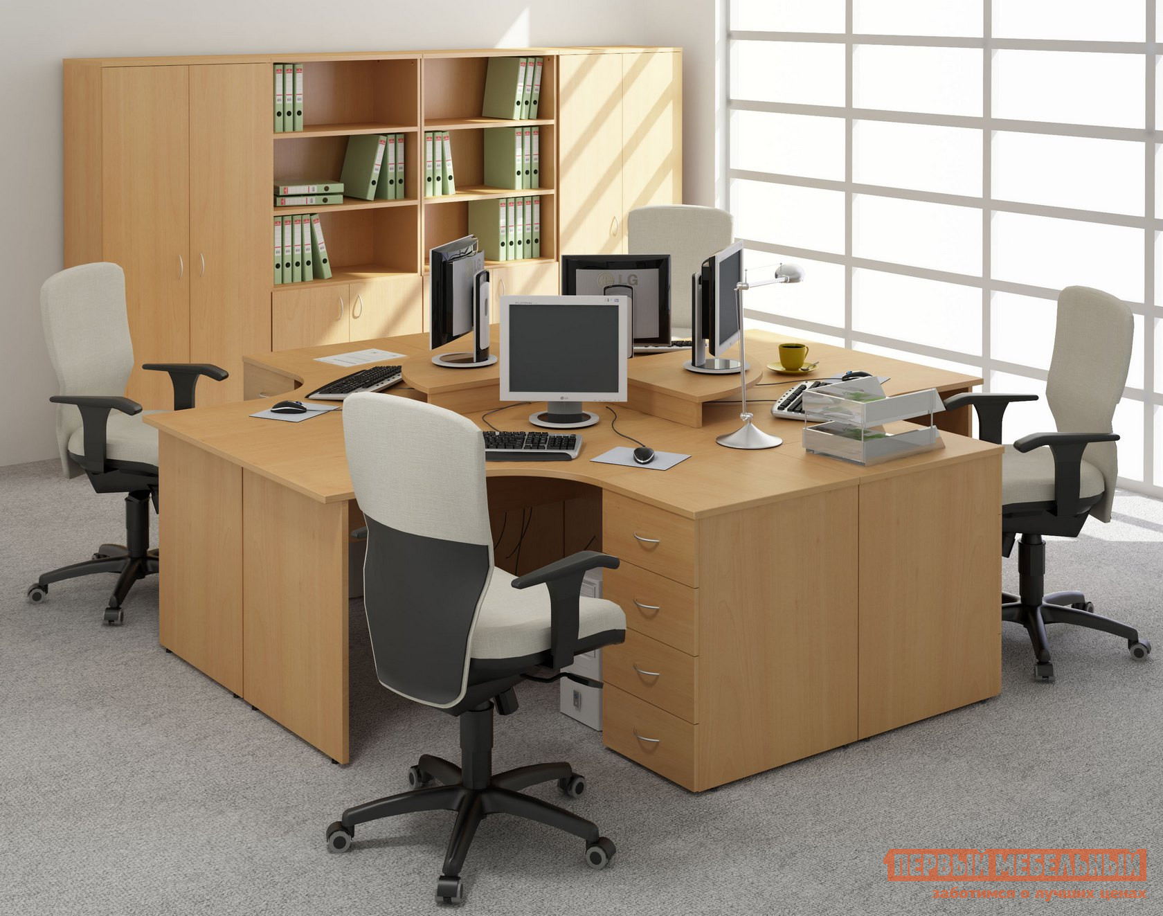 Комплект офисной мебели Дэфо Эрго К1 комплект офисной мебели дэфо берлин офис к1