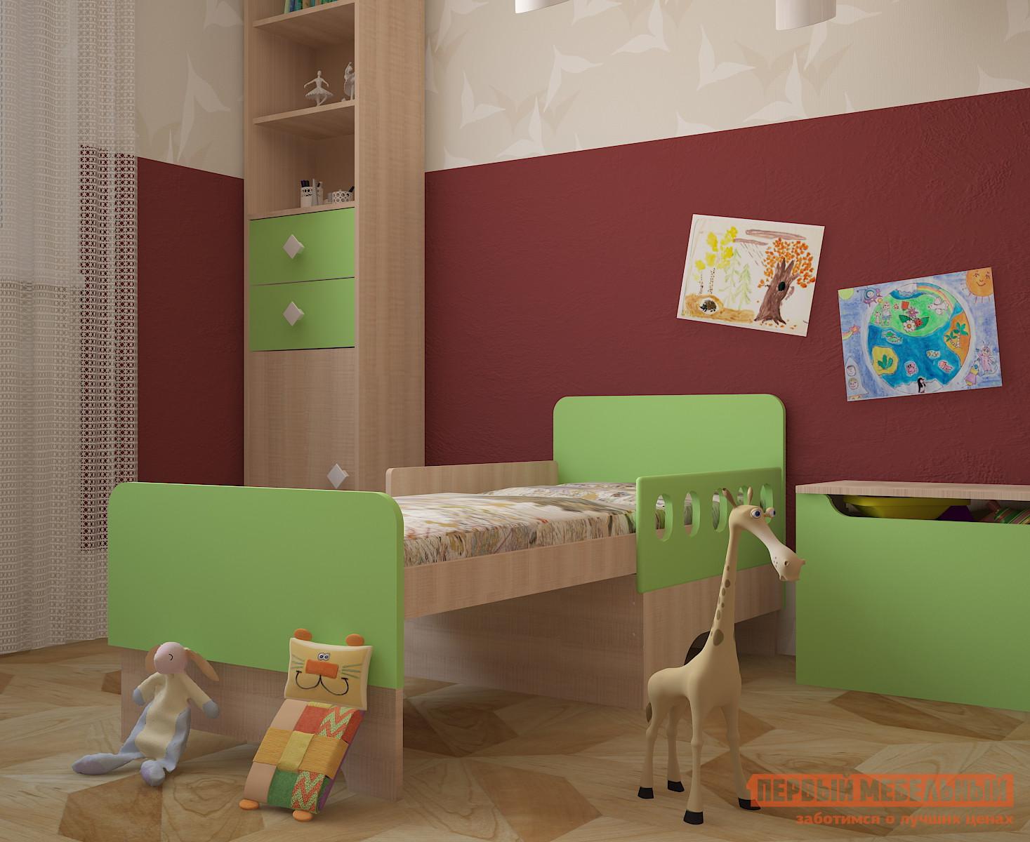 Комплект детской мебели МО РОСТ Жили-были K1 Мадейра / Зеленый глянец