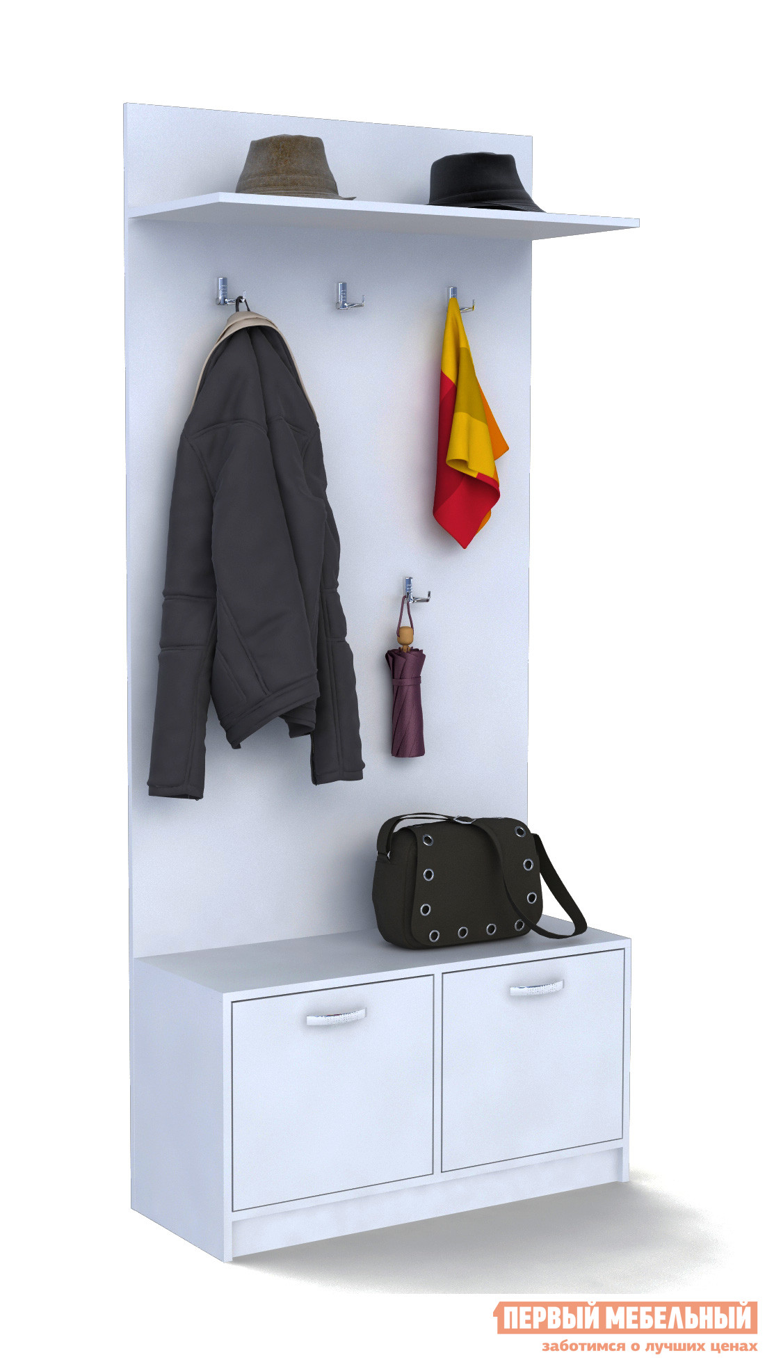 Малогабаритная прихожая для узкого коридора МФ Мастер Обувница с вешалкой (ОВ)