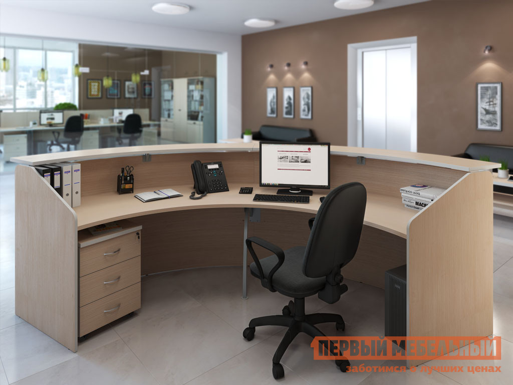 Комплект офисной мебели Pointex Зум Светлый К1 комплект офисной мебели riva рива клен к1