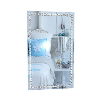 Настенное зеркало ZerkaloStudio Узелки Белые 40 Х 60 см, Белый