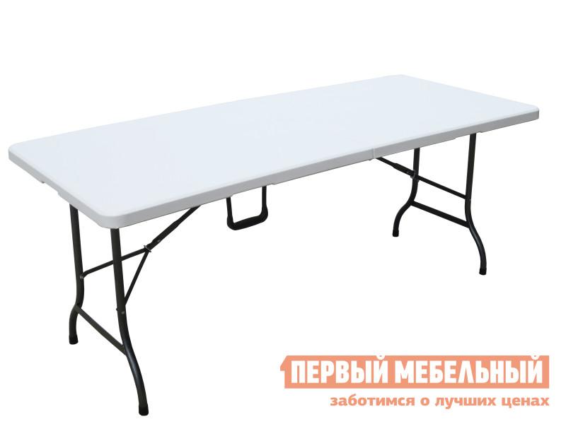 Стол для пикника Smart bird ZK-180 БелыйСтолы для пикника<br>Габаритные размеры ВхШхГ 725x1800x760 мм. Раскладной стол — прекрасное решение для ценителей комфортного отдыха на природе, в саду или на даче. Стол легкий и компактный в сложенном состоянии он имеет вид чемоданчика с удобной ручкой для переноски.  Размер в сложенном виде (ВхШхГ): 90 х 900 х 760 мм.  Устойчивость стола обеспечивают треугольный раскладной механизм ножек и система блокировки крепления.  Столешница выполнена из полиэтилена высокой плотности, каркас из высокопрочной стали.  Плотный полиэтилен имеет хорошую жаро и морозостойкость, прочность, устойчив к механическим повреждениям.  Стальной каркас обработан порошковым покрытием, которое защищает металл от коррозии.  На ножках предусмотрены резиновые накладки, благодаря которым не повреждается поверхность пола. Обратите внимание,  стулья не входят в комплект, их необходимо приобретать отдельно. Максимальная нагрузка на изделие — до 100 кг.<br><br>Цвет: Белый<br>Цвет: Белый<br>Высота мм: 725<br>Ширина мм: 1800<br>Глубина мм: 760<br>Форма поставки: В разобранном виде<br>Срок гарантии: 12 месяцев<br>Тип: На 5 и более персон<br>Материал: Металлические, Пластиковые
