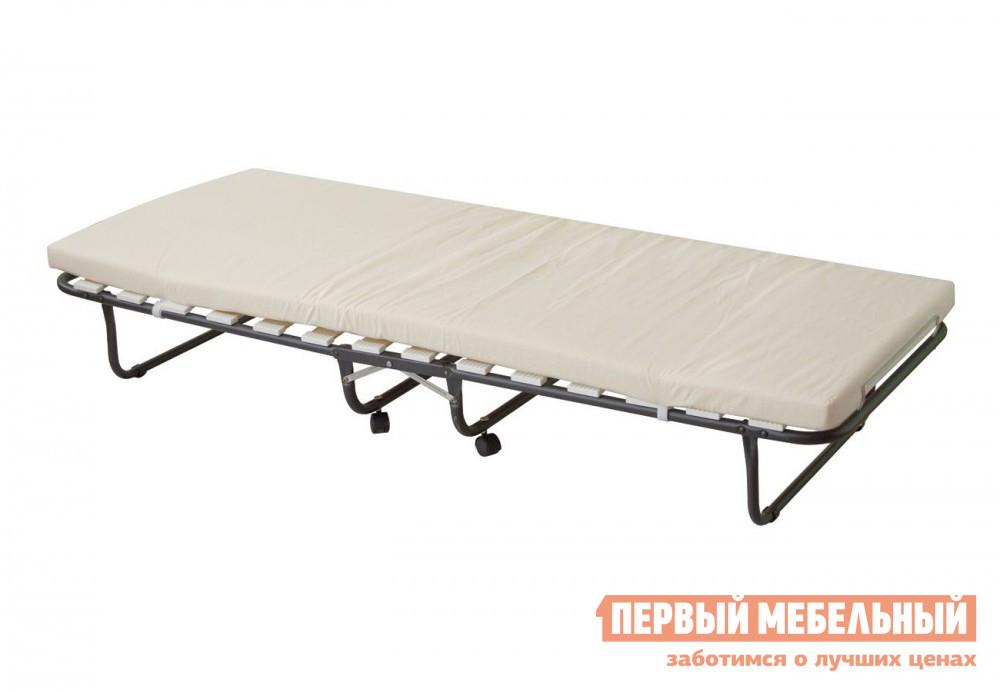Раскладушка на ламелях с матрасом Мебель Импэкс Кровать раскладная