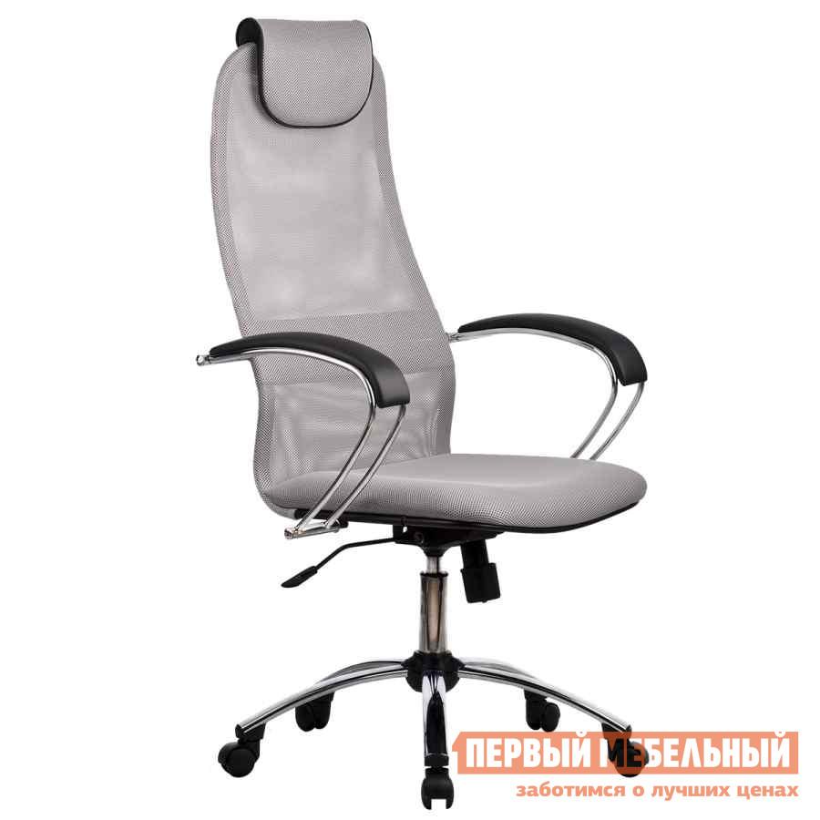 Кресло руководителя Метта BK-8 Ch Ткань-сетка № 24 стальная