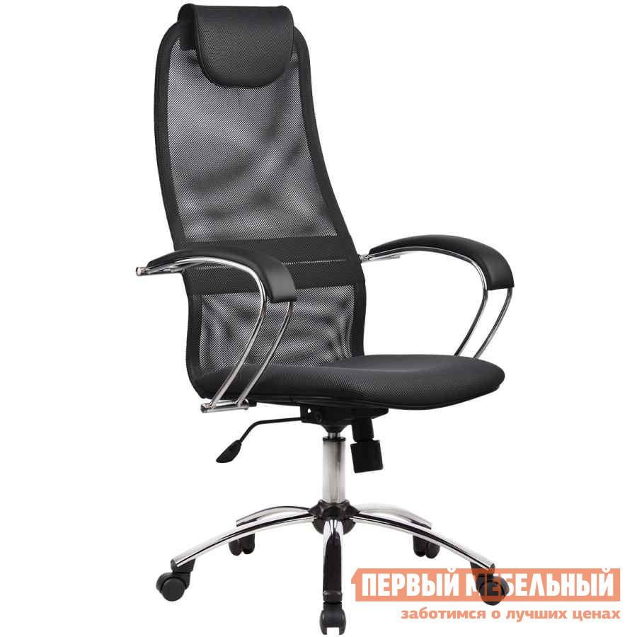 Кресло руководителя  BK-8 Ch Ткань-сетка № 21 серая