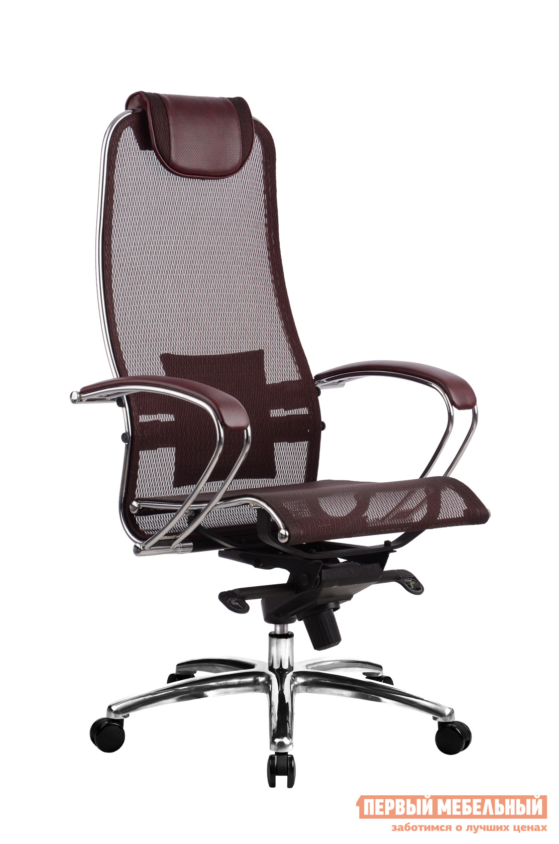 Кресло руководителя Метта Samurai S-1.02 Темно-бордовый