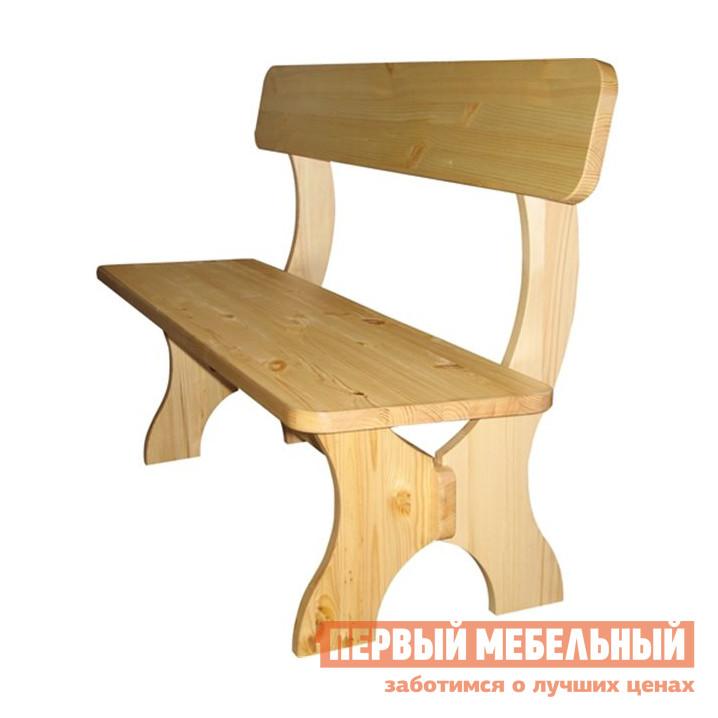Деревянная скамейка со спинкой Добрый мастер Ом-1200лс/1400лс/1600лс/1800лс/2000лс комплект садовой мебели из сосны добрый мастер ом л ом лс ом