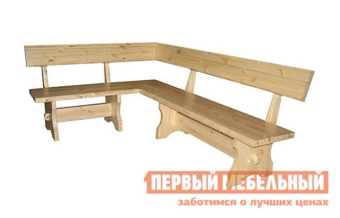 Угловая скамья деревянная со спинкой Добрый мастер Cк-Уs