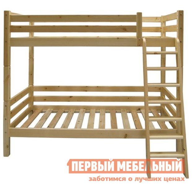 Раскладная двухъярусная кровать-трансформер для двоих детей Добрый мастер К-2в
