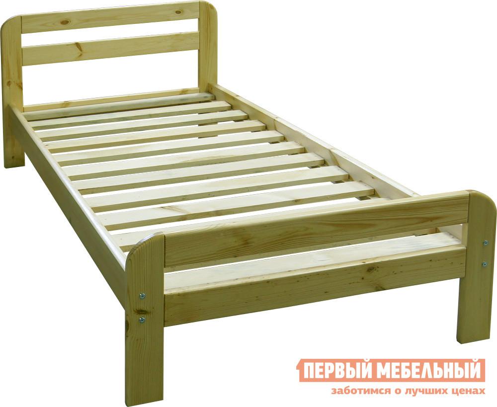 Односпальная кровать  К-1е Натуральная сосна, Спальное место 1200 Х 2000 мм