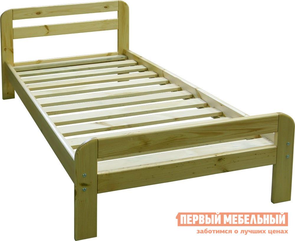 Кровать Добрый мастер К-1е Массив сосны, Спальное место 900 Х 2000 мм