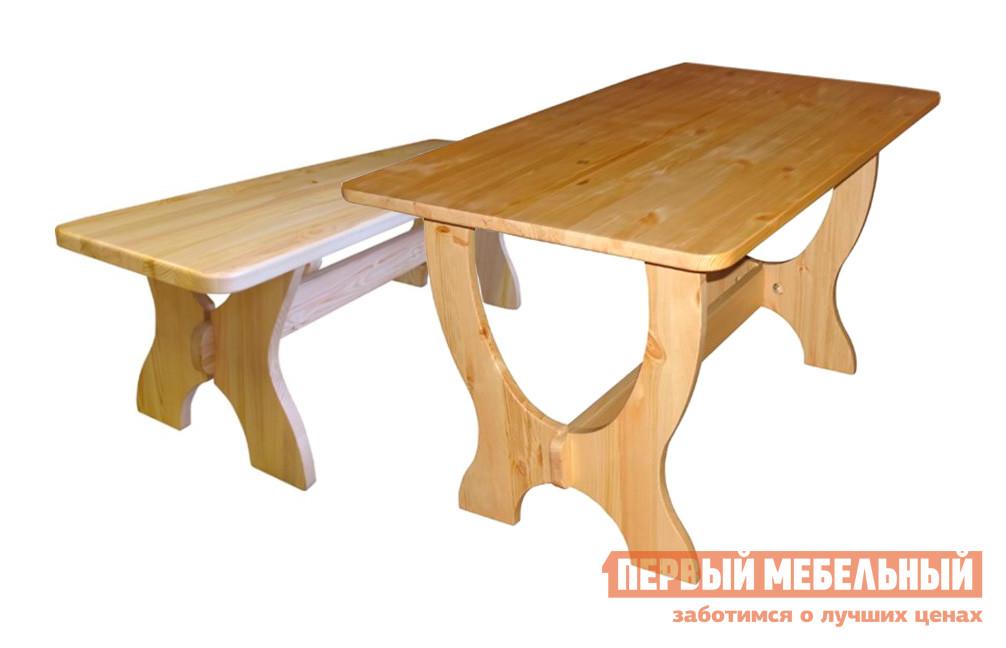 Комплект садовой мебели Добрый мастер Ом л + Ом Ширина 2000 мм, Массив сосны