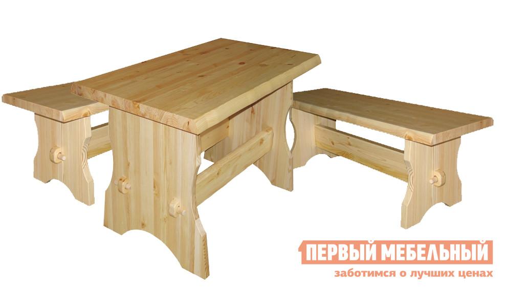 Комплект садовой мебели Добрый мастер Cт s+ Ск s комплект садовой мебели из сосны добрый мастер ом л ом лс ом