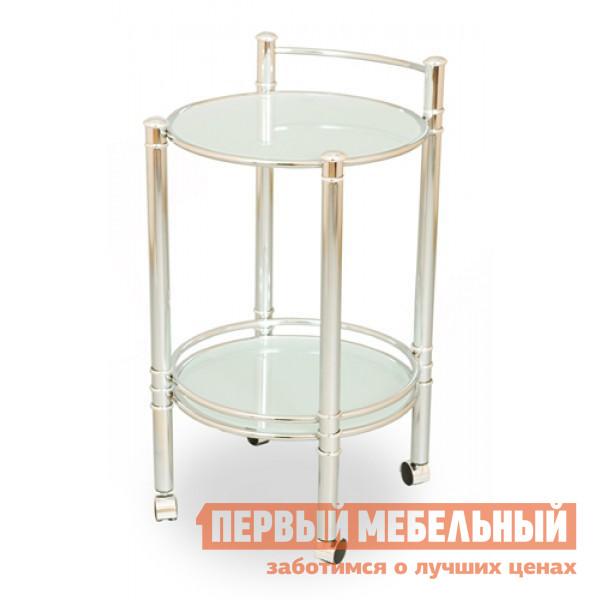 Сервировочный столик Red and Black SC-5035 Хром / Стекло