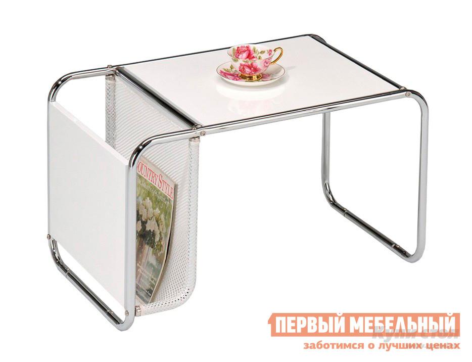 Журнальный столик Red and Black 0767 WT Хром / Белый
