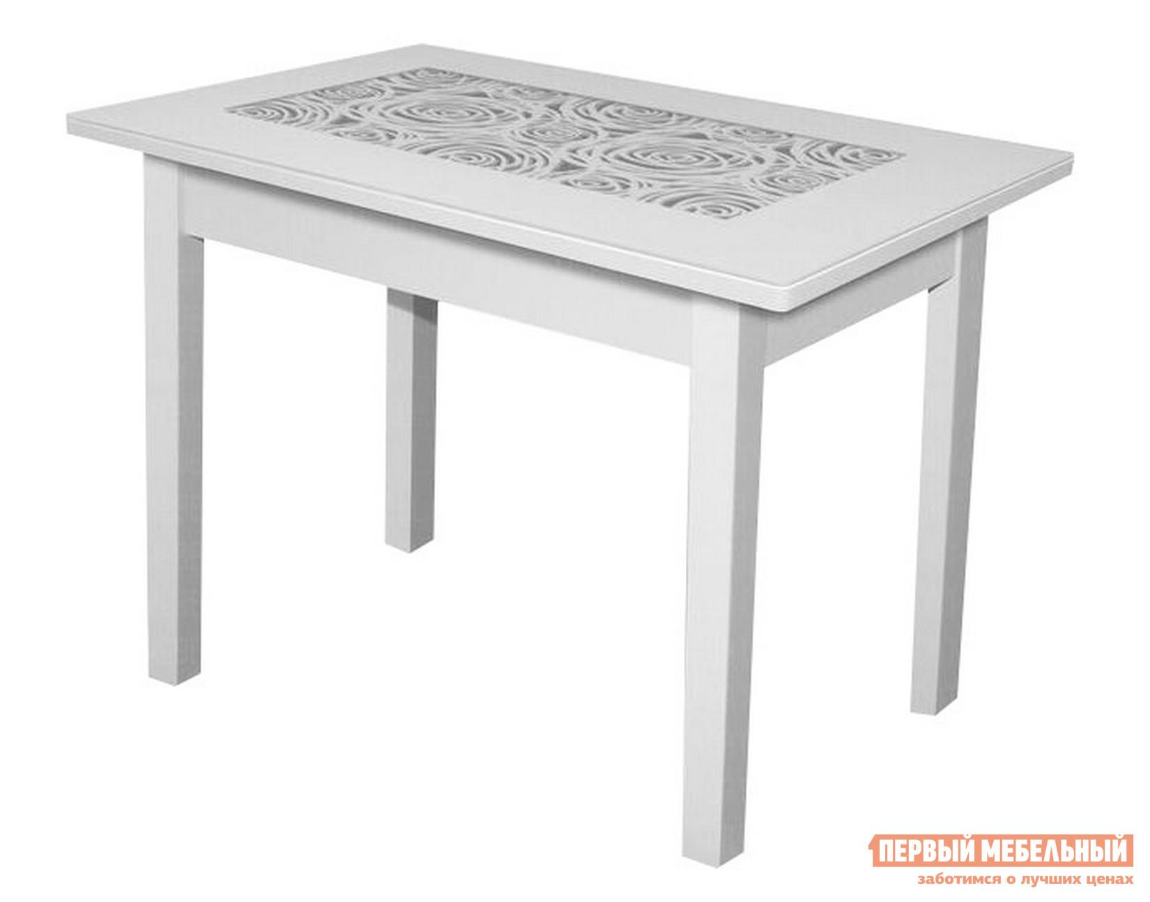 Обеденный стол  Ажур Квадро Р-27 Белый / Белый