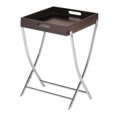 Сервировочный столик Red and Black 1160 GC Хром / Темный орех