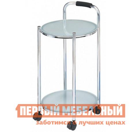 Сервировочный столик Red and Black ЕР 8263 МолочныйСервировочные столики<br>Габаритные размеры ВхШхГ 655x340x340 мм. Аккуратный стильный столик на колесиках станет незаменимым помощником в вашем доме.  Удобная ручка позволит перемещать его по дому легко и просто. Каркас модели выполнен из хромированного металла, а столешницы — из закаленного стекла толщиной 5 мм.<br><br>Цвет: Молочный<br>Цвет: Белый<br>Высота мм: 655<br>Ширина мм: 340<br>Глубина мм: 340<br>Кол-во упаковок: 1<br>Форма поставки: В разобранном виде<br>Срок гарантии: 6 месяцев<br>Материал: Металлические, Стеклянные<br>Форма: Круглые<br>Размер: Маленькие<br>Особенности: С полкой, На колесиках, 2-х ярусный