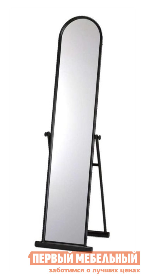 Напольное зеркало Red and Black MS-9077 ЧерныйНапольные зеркала<br>Габаритные размеры ВхШхГ 1440x380x мм. Напольное зеркало позволит вам видеть свое отражение практически в полный рост.  Оно станет выгодным дополнением спальни или гостиной.  Каркас выполнен из стальных труб диаметром 19 и 38 мм.  Рама металлическая.  Толщина зеркального полотна — 3 мм.<br><br>Цвет: Черный<br>Цвет: Черный<br>Высота мм: 1440<br>Ширина мм: 380<br>Форма поставки: В разобранном виде<br>Срок гарантии: 6 месяцев<br>Тип: Простые, С регулировкой наклона<br>Назначение: Для спальни<br>Материал: Металлические<br>Форма: Овальные<br>Особенности: В полный рост, На подставке<br>Тип рамы: В раме