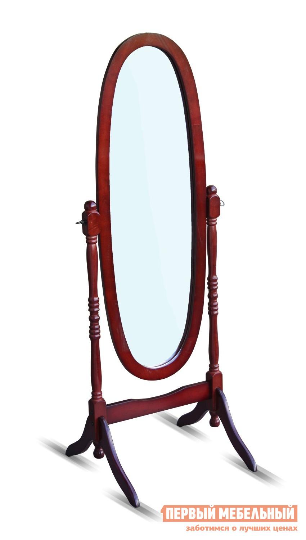 Напольное зеркало Red and Black 8007-Ch-MS ВишняНапольные зеркала<br>Габаритные размеры ВхШхГ 1500x500x520 мм. Овальное напольное зеркало в деревянной раме.  С помощью наклона зеркала вперед и назад можно менять угол обзора.  Благодаря благородному цвету вишня зеркало станет стильным дополнением интерьера. Зеркало поставляется в разобранном виде, упаковано в одну коробку.  Размер зеркального полотна составляет (ВхШ): 1190 x 430 мм.<br><br>Цвет: Красное дерево<br>Высота мм: 1500<br>Ширина мм: 500<br>Глубина мм: 520<br>Форма поставки: В разобранном виде<br>Срок гарантии: 6 месяцев<br>Тип: С регулировкой наклона<br>Назначение: Для спальни<br>Материал: Дерево<br>Форма: Овальные<br>На ножках: Да<br>В полный рост: Да<br>На подставке: Да<br>Тип рамы: В раме