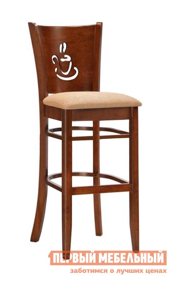 Барный стул Red and Black 9131 Шоколад Red and Black Габаритные размеры ВхШхГ 1130x420x430 мм. Деревянный барный стул на высоких ножках.  Комфортная и элегантная модель, в которой гармонично сочетаются качество исполнения и эстетическое наполнение.  Спинка декорирована резным орнаментом. <br>Высота от пола до сидения — 700 мм. <br>Сидение выполнено из ткани.  Материал изготовления каркаса – прочный и износостойкий натуральный массив гевеи. <br>