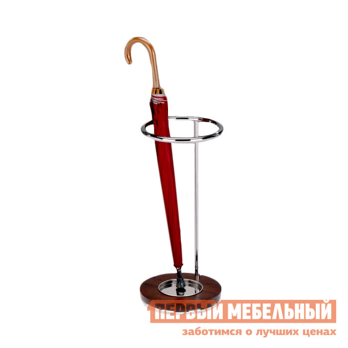 Подставка для зонтов Red and Black SR-0730 Хром / ОрехПодставки для зонтов<br>Габаритные размеры ВхШхГ 550x250x250 мм. Изящная подставка для зонтов идеально впишется в абсолютно любой интерьер. Подставка исполнена из хромированного металла в сочетании с основанием из массива ореха, что делает эту модель невероятно стильной и утонченной.<br><br>Цвет: Коричневое дерево<br>Высота мм: 550<br>Ширина мм: 250<br>Глубина мм: 250<br>Форма поставки: В разобранном виде<br>Тип: Без вешалки<br>Назначение: В прихожую<br>Назначение: Для офиса<br>Материал: Металл<br>Материал: Дерево