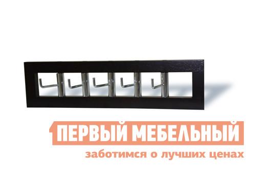 Настенная вешалка Red and Black 0377 ВенгеНастенные вешалки<br>Габаритные размеры ВхШхГ 120x450x120 мм. Настенная вешалка с пятью крючками.  Вешалка выполнена из дерева.  Изделие поставляется в разобранном виде.<br><br>Цвет: Венге<br>Высота мм: 120<br>Ширина мм: 450<br>Глубина мм: 120<br>Форма поставки: В собранном виде<br>Срок гарантии: 6 месяцев