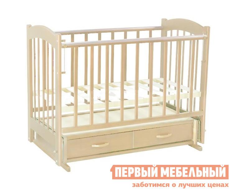 Кроватка  Радуга-4 попер. маятник Слоновая кость
