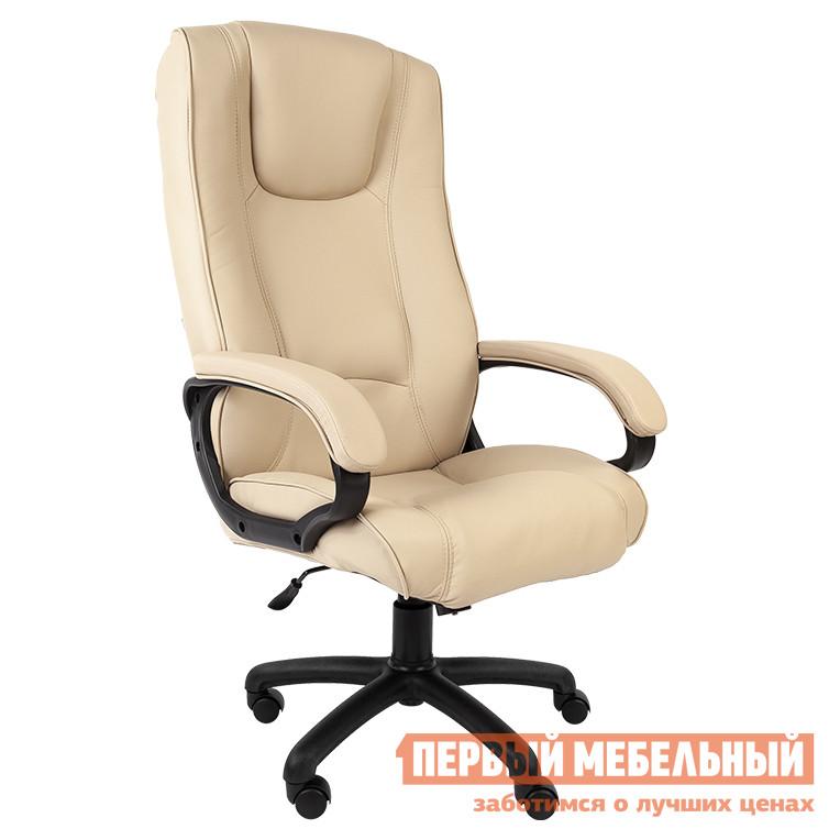 Кресло руководителя  РК 100 ПЛ Терра Бежевый (Экокожа)
