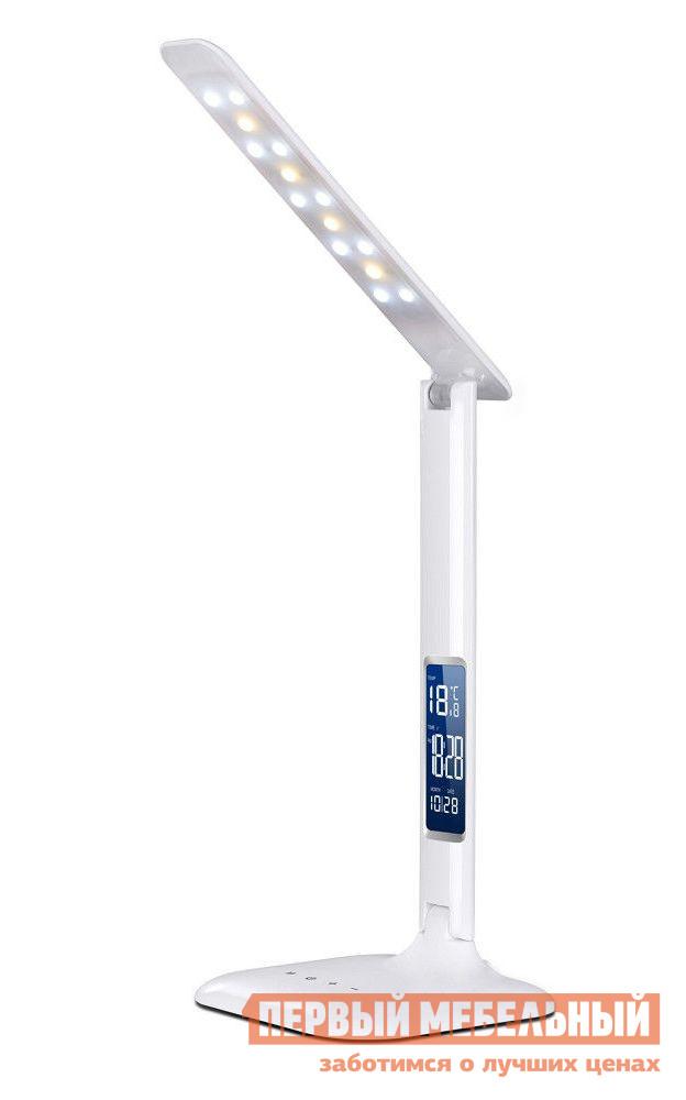 Аксессуар Fun Desk LC1 БелыйАксессуары для парт<br>Габаритные размеры ВхШхГ 330x1450x145 мм. Настольная светодиодная лампа со встроенным календарем, часами  и термометром.  Она обеспечена пятью вариантами регулировки яркости свечения.  На подставке расположены сенсорные кнопки управления.  Модель имеет три варианта цветовой температуры: 2800-3300К, 4000-4500К, 5000-5500К. Мощность — 4 Вт;Яркость — до 800 Люменов;Тип светодиодов — SMD 5050;Количество светодиодов — 14 шт;Срок службы светодиодов — 40000 часов;Длина сетевого шнура — 1. 5 м;Максимальный угол раскрытия — 180 градусов. В комплект входят: кабель и блок питания, батарея для часов.  Корпус лампы выполнен из пластика.<br><br>Цвет: Белый<br>Высота мм: 330<br>Ширина мм: 1450<br>Глубина мм: 145<br>Кол-во упаковок: 1<br>Форма поставки: В собранном виде<br>Срок гарантии: 12 месяцев