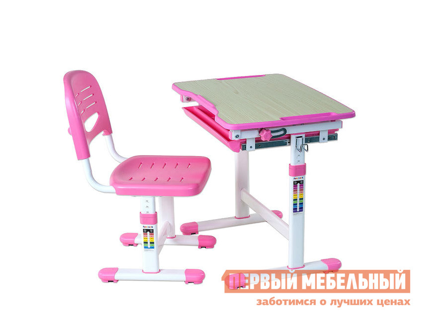 Парта Fun Desk PICCOLINO Pink (розовый)