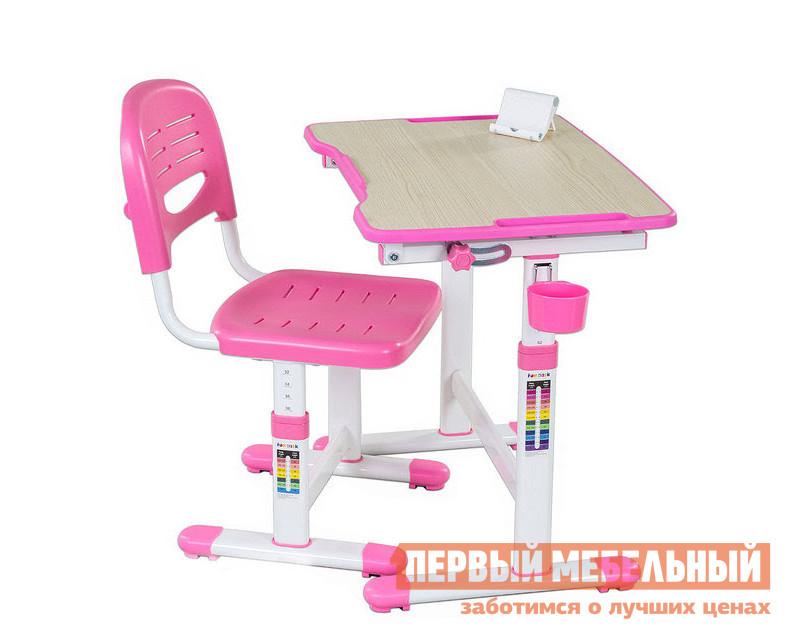 Парта Fun Desk PICCOLINO II Pink (розовый)Парты<br>Габаритные размеры ВхШхГ 540 / 760x664x474 мм. Растущая парта-трансформер в комплекте со стулом — прекрасный выбор для организации рабочего уголка для вашего ребенка.  Такой комплект позаботится о здоровой осанке и зрении малыша, а также об удобстве и безопасности его деятельности.  Благодаря регулировкам высоты парты и стула, вы можете адаптировать комплект под соответствующий рост ребенка.  На ножках изделий даны необходимые подсказки. Парта имеет размеры (ШхГ): 664х474 мм, высота регулируется в пределах от 540 до 760 мм. Столешница с изменяемым до 40° углом наклона поможет комфортно расположиться во время чтения, рисования и письма.  Ребенок может использовать парту как мольберт.  Размер наклонной части (ШхГ): 664x474 мм, толщина — 15 мм. Наклон регулируется при помощи кнопки. Поверхность столешницы имеет специальное антибликовое покрытие для защиты зрения ребенка. Все углы скруглены и безопасны. Имеется крючок для портфеля и специальное углубление в столешнице для канцтоваров. Стул  имеет размеры (ШхГ): 390х418 мм, высота со спинкой регулируется в пределах от 653 до 793 мм, высота от пола до сиденья — в пределах от 300 до 440 мм. Сиденье и спинка имеют перфорацию для лучшего воздухообмена. Регулировка высоты стола и стула:  многоступенчатая механическая. При производстве используются исключительно экологически чистые и современные материалы.  Столешница выполнена из МДФ, цветные детали, сиденье и спинка стула — полипропилен, корпус — окрашенный металл. Рекомендуемый возраст для использования комплекта: от 3 до 12 лет.<br><br>Цвет: Розовый<br>Высота мм: 540 / 760<br>Ширина мм: 664<br>Глубина мм: 474<br>Кол-во упаковок: 1<br>Форма поставки: В разобранном виде<br>Срок гарантии: 12 месяцев<br>Тип: Трансформер<br>Тип: Одноместные<br>Тип: Регулируемые<br>Тип: Растущие<br>Тип: Ортопедические<br>Назначение: Для дома<br>Назначение: Для дошкольников<br>Назначение: Детские<br>Материал: Металл<br>Материал: Пластик<br>Матери