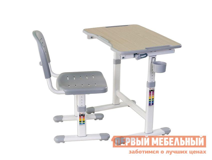 Парта Fun Desk PICCOLINO II Grey (серый)Парты<br>Габаритные размеры ВхШхГ 540 / 760x664x474 мм. Растущая парта-трансформер в комплекте со стулом — прекрасный выбор для организации рабочего уголка для вашего ребенка.  Такой комплект позаботится о здоровой осанке и зрении малыша, а также об удобстве и безопасности его деятельности.  Благодаря регулировкам высоты парты и стула, вы можете адаптировать комплект под соответствующий рост ребенка.  На ножках изделий даны необходимые подсказки. Парта имеет размеры (ШхГ): 664х474 мм, высота регулируется в пределах от 540 до 760 мм. Столешница с изменяемым до 40° углом наклона поможет комфортно расположиться во время чтения, рисования и письма.  Ребенок может использовать парту как мольберт.  Размер наклонной части (ШхГ): 664x474 мм, толщина — 15 мм. Наклон регулируется при помощи кнопки. Поверхность столешницы имеет специальное антибликовое покрытие для защиты зрения ребенка. Все углы скруглены и безопасны. Имеется крючок для портфеля и специальное углубление в столешнице для канцтоваров. Стул  имеет размеры (ШхГ): 390х418 мм, высота со спинкой регулируется в пределах от 653 до 793 мм, высота от пола до сиденья — в пределах от 300 до 440 мм. Сиденье и спинка имеют перфорацию для лучшего воздухообмена. Регулировка высоты стола и стула:  многоступенчатая механическая. При производстве используются исключительно экологически чистые и современные материалы.  Столешница выполнена из МДФ, цветные детали, сиденье и спинка стула — полипропилен, корпус — окрашенный металл. Рекомендуемый возраст для использования комплекта: от 3 до 12 лет.<br><br>Цвет: Серый<br>Высота мм: 540 / 760<br>Ширина мм: 664<br>Глубина мм: 474<br>Кол-во упаковок: 1<br>Форма поставки: В разобранном виде<br>Срок гарантии: 12 месяцев<br>Тип: Трансформер<br>Тип: Одноместные<br>Тип: Регулируемые<br>Тип: Растущие<br>Тип: Ортопедические<br>Назначение: Для дома<br>Назначение: Для дошкольников<br>Назначение: Детские<br>Материал: Металл<br>Материал: Пластик<br>Материал: 