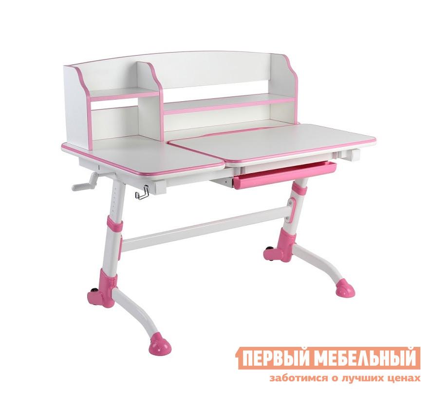 Парта Fun Desk Amare II Pink (розовый)Парты<br>Габаритные размеры ВхШхГ 945 / 1165x1190x730 мм. Эргономичная парта-трансформер с надстройкой и большой рабочей поверхностью отлично подойдет для создания удобной учебной зоны в детской комнате.  Парта оснащена механизмом регулировки высоты, который позволит ей расти вместе с вашим ребенком.  Стол подходит для детей от 4х лет. Высота стола регулируется от 590 до 810 мм.  Общие размеры столешницы составляют 1190 х 730 мм.  Часть столешницы имеет механизм регулировки угла наклона в диапазоне от 0 до 25°, что позволит настроить поверхность для разного вида занятий: рисования, письма или чтения.  Размер регулируемой части — 810 х 490 мм. Парта оборудована удобной надстройкой для книг, тетрадей и мелочей.  Под столешницей есть вместительный выдвижной ящик для канцелярских принадлежностей.  Задние ножки оборудованы колесиками, которые позволят легко передвигать парту по комнате.  В комплект входит крючок для портфеля или аксессуаров.  Поверхность столешницы  покрыта антибликовым покрытием, которое защитит глаза ребенка от перенапряжения и усталости.  Столешница изготавливается из МДФ толщиной 25 мм, каркас — металл, пластиковые элементы — полипропилен.<br><br>Цвет: Pink (розовый)<br>Цвет: Розовый<br>Высота мм: 945 / 1165<br>Ширина мм: 1190<br>Глубина мм: 730<br>Кол-во упаковок: 2<br>Форма поставки: В разобранном виде<br>Срок гарантии: 12 месяцев<br>Тип: Трансформер, Одноместные, Регулируемые, Растущие, Ортопедические<br>Назначение: Для дома, Для школьников, Для дошкольников<br>Материал: Металлические, Пластиковые, из МДФ<br>Особенности: С надстройкой<br>Рост ребенка: Рост 115-130 см, Рост 130-145 см, Рост 145-160 см, Рост 160-175 см, Рост 175-185 см, Рост 185-200 см, Для ребенка ростом менее 115 см